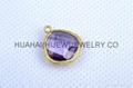 bezel set gemstone jewelry,bezel crystal earring ,bezel gemstone pendant 1