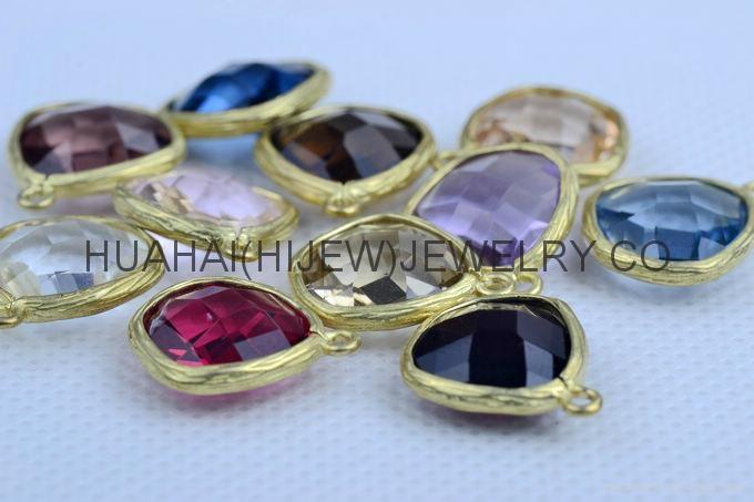 bezel set gemstone jewelry,bezel crystal earring ,bezel gemstone pendant 3