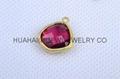 bezel set gemstone jewelry,bezel crystal earring ,bezel gemstone pendant 4