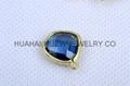 bezel set gemstone jewelry,bezel crystal earring ,bezel gemstone pendant 5