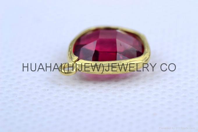 bezel set gemstone jewelry,bezel crystal earring ,bezel gemstone pendant 2
