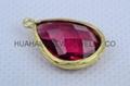 bezel crystal earring findding foto