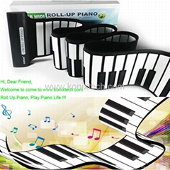 88keys hand roll piano with MIDI for kids