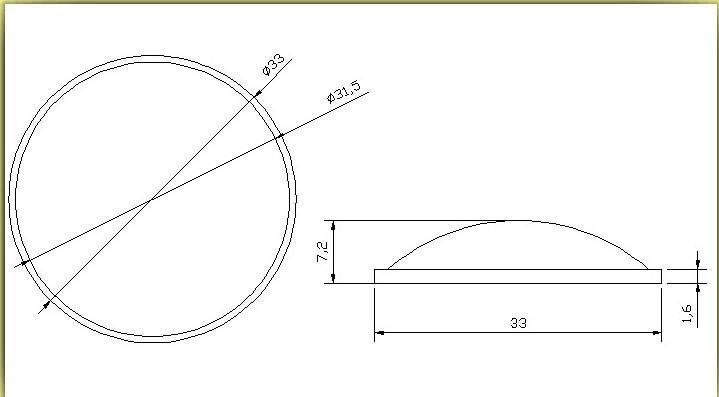 直徑33mm手電筒透鏡 3