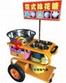 商用手推彩色花式棉花糖机小车