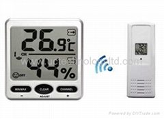 Wireless Jumbo Thermo-hygrometer with 8 channel