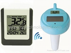 Wireless  8 channel Solar Pool Thermometer