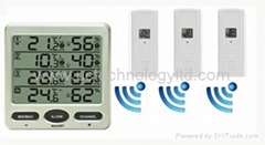 Wireless 8 Channel Multi-display Thermometer Hygrometer