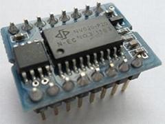 语音IC九芯NV020S可重复擦除语音模块外挂flash