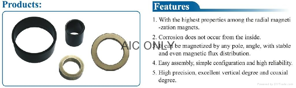 Anisotropic radial magnetized NdFeB ring 1
