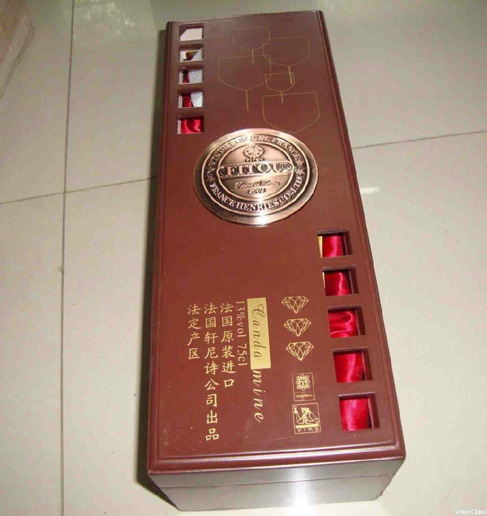 High-grade wine packaging box piano paint 1