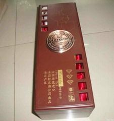 高档钢琴烤漆红酒包装盒
