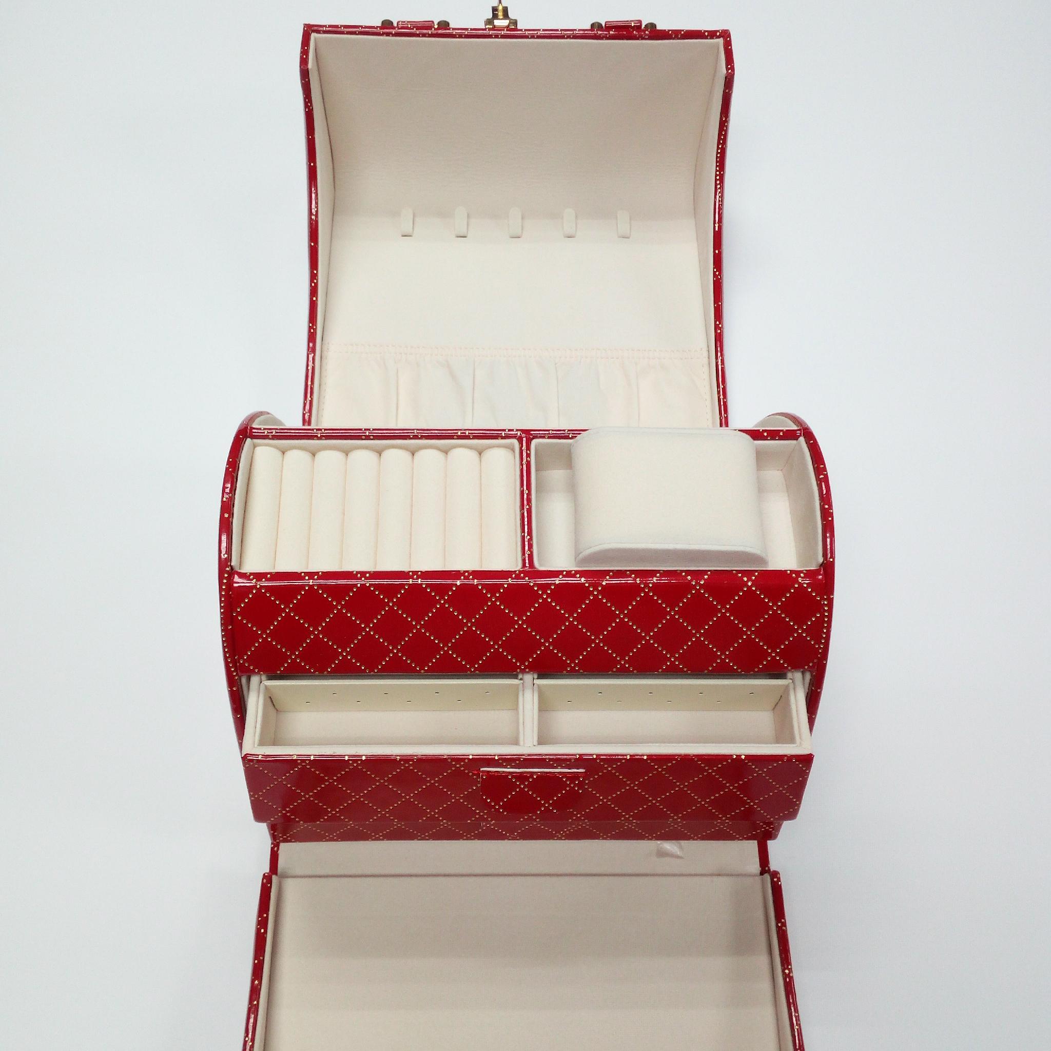 定製高檔化妝品收納皮盒 1