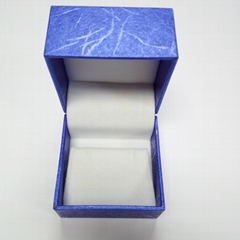 Jewelry ring leather box