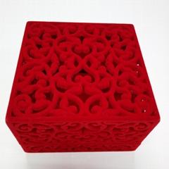 仿皮絨禮品包裝盒