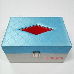 高檔木製皮革紙抽盒