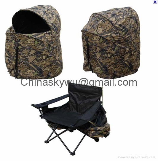 chair hunting blind. one man hunting chair blind 1