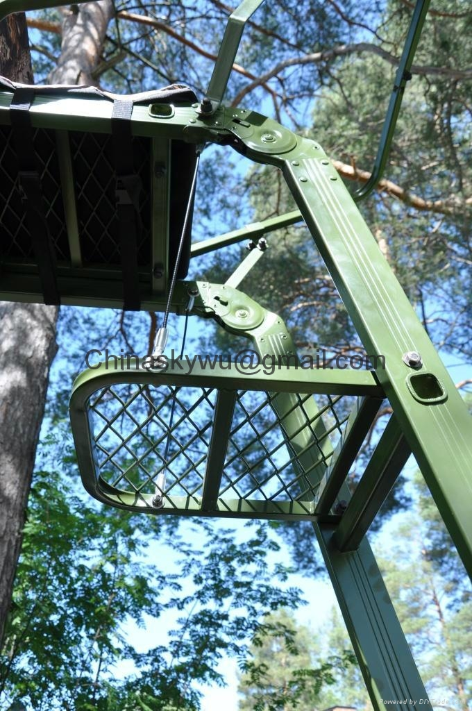 Folding hunting tree stand sky711 sky china for Diy hunting tree stand