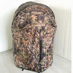 One man leaf hide hunting tent chair
