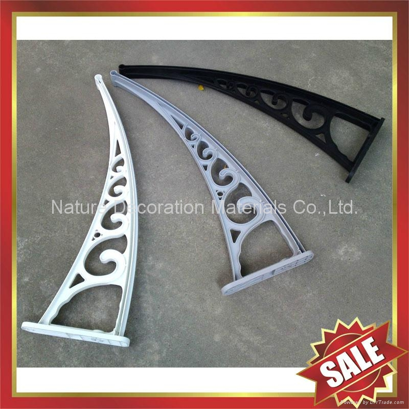 diy pc polycarbonate awnings canopies canopy awning bracket support arm  3