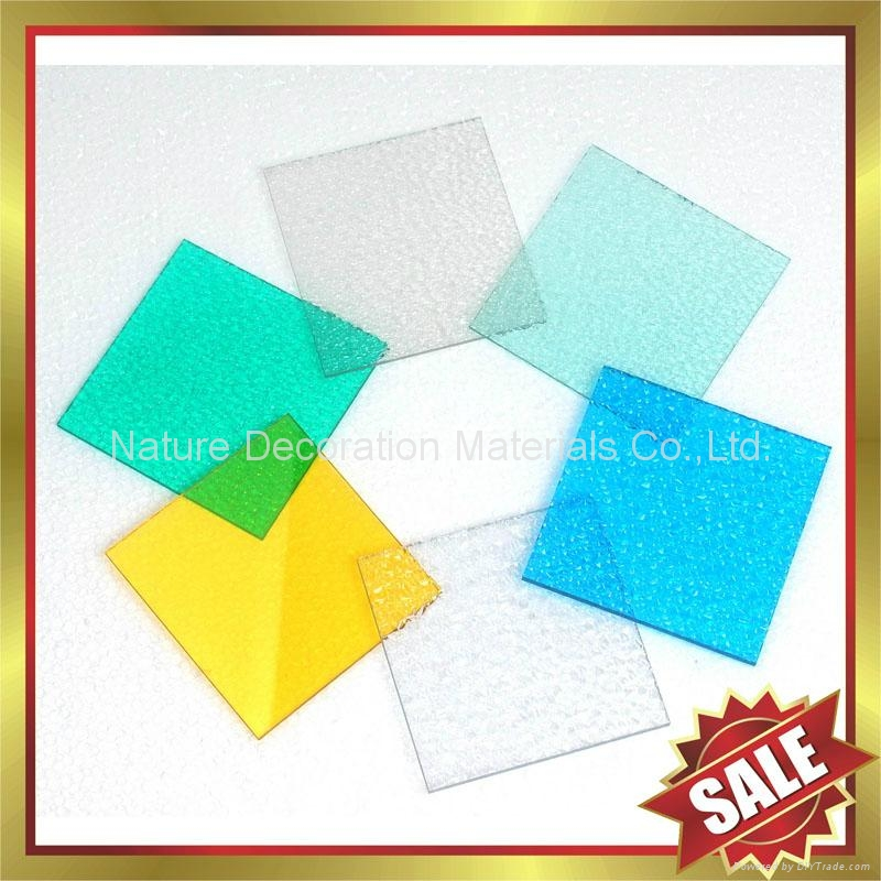 Diamond embossed PC polycarbonate solid sheet sheeting board panel plate 4