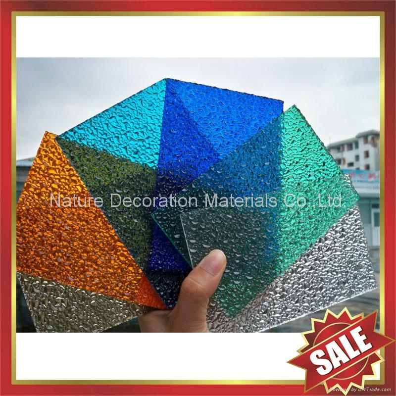 Diamond embossed PC polycarbonate solid sheet sheeting board panel plate 1