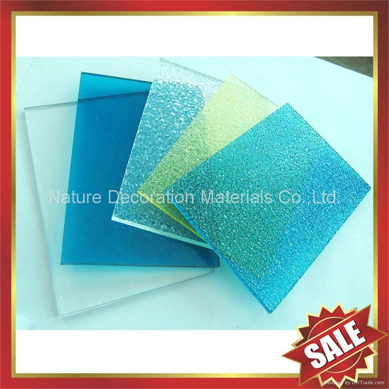 embossed PC polycarbonate solid sheet sheeting plate board panel 1