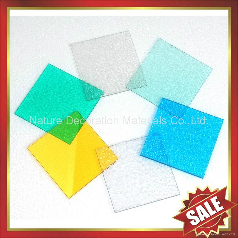 embossed PC polycarbonate solid sheet sheeting plate board panel 5
