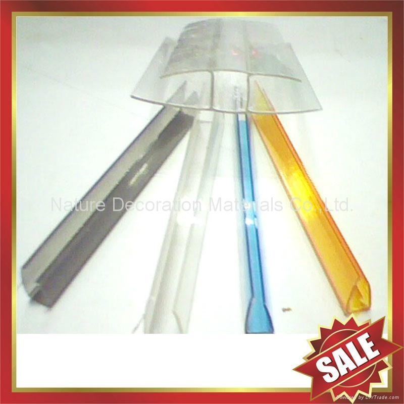 PC polycarbonate U Profile cover edge for solid hollow pc sheet 2