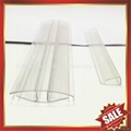 PC polycarbonate U Profile cover edge for solid hollow pc sheet 3