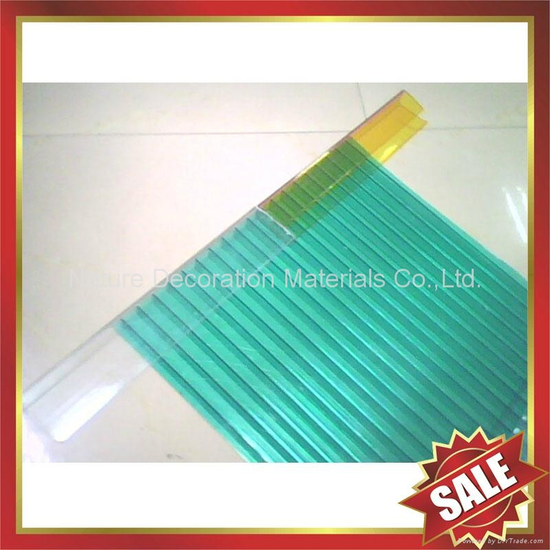 PC polycarbonate U Profile cover edge for solid hollow pc sheet 1