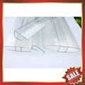 PC polycarbonate U Profile cover edge for solid hollow pc sheet 5