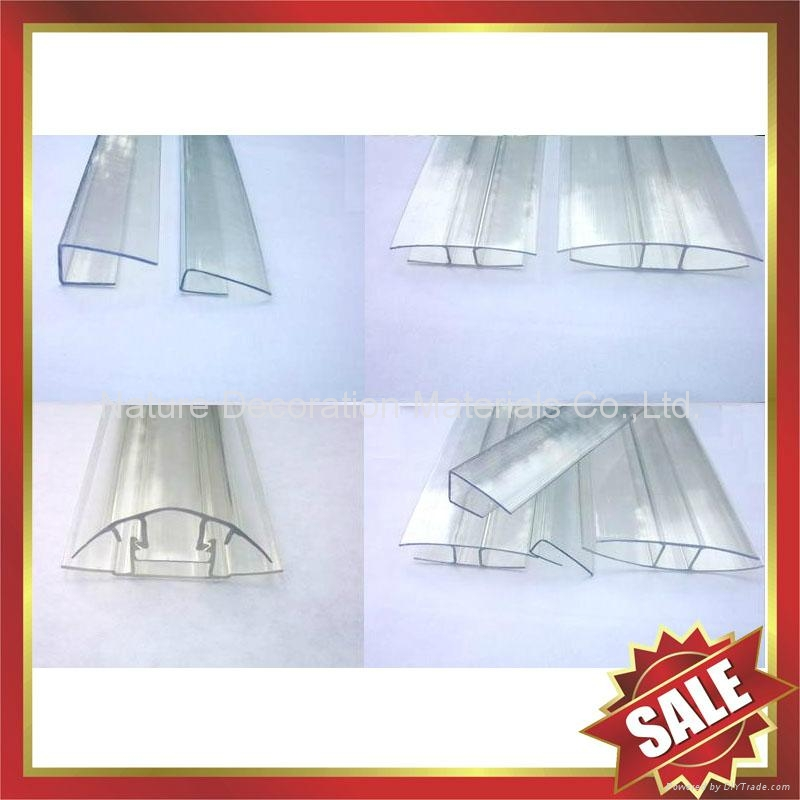 PC polycarbonate buckle down snap connector profile for pc sun sheet 2