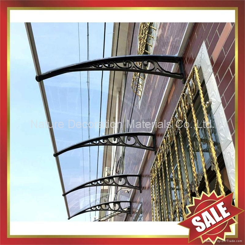 diy pc polycarbonate sun rain canopies canopy awning awnings shelter