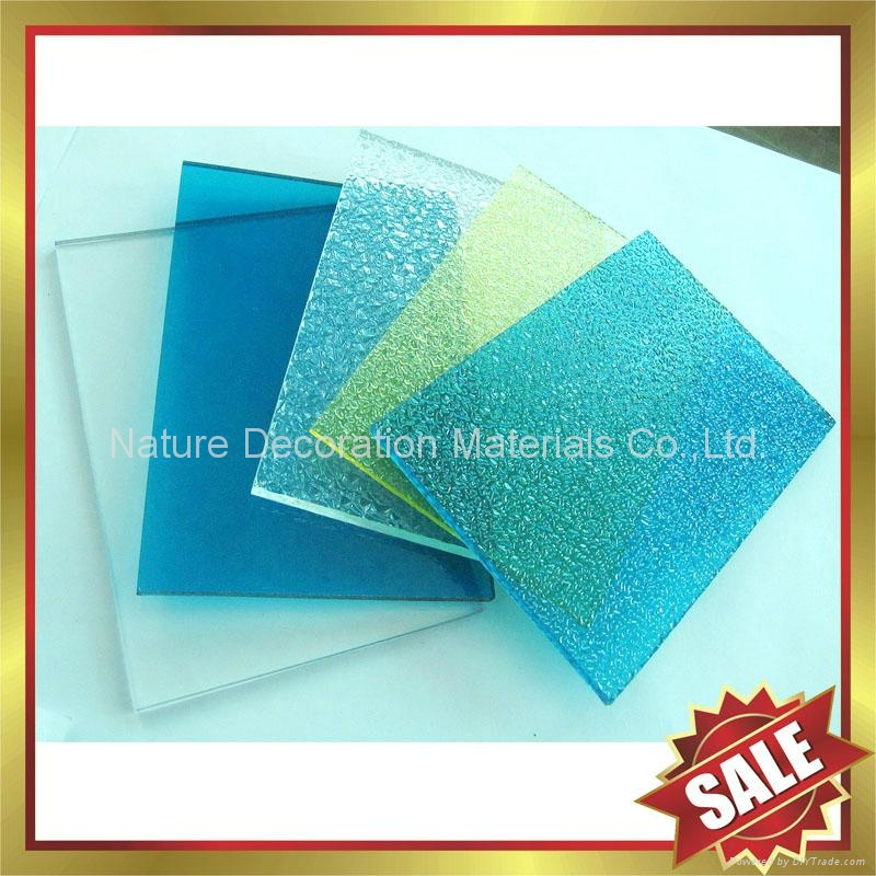 PC polycarbonate solid roofing sheet sheeting panel plate board 5