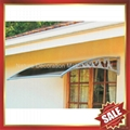 window door pc polycarbonate diy rain sun awning canopy canopies shelter cover 2