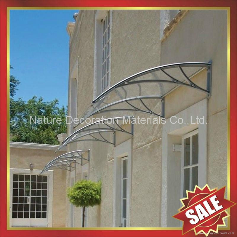 window door pc polycarbonate diy rain sun awning canopy canopies shelter cover 4