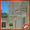 window door pc polycarbonate diy rain sun awning canopy canopies shelter cover