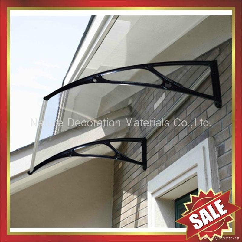戶外別墅門窗PC陽光耐力板鑄鋁支架DIY遮雨陽篷蓬棚 3