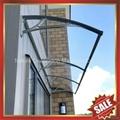戶外別墅門窗PC陽光耐力板鑄鋁支架DIY遮雨陽篷蓬棚 2