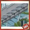 戶外別墅門窗PC陽光耐力板鑄鋁支架DIY遮雨陽篷蓬棚 4