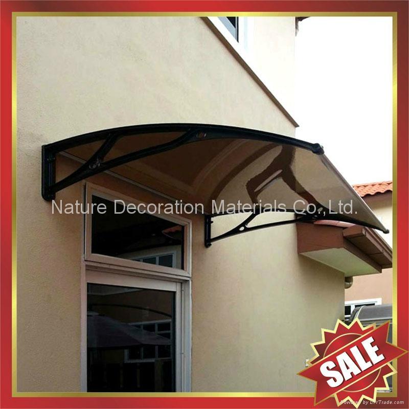 戶外別墅門窗PC陽光耐力板鑄鋁支架DIY遮雨陽篷蓬棚 1