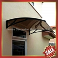 window door pc polycarbonate diy awning canopy canopies with aluminium bracket