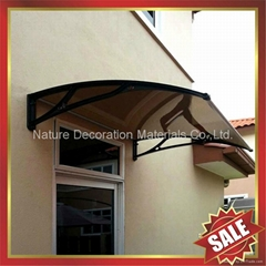 戶外別墅門窗PC陽光耐力板鑄鋁支架DIY遮雨陽篷蓬棚