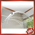 門廊鋁合金框架拱形PC耐力板遮雨陽篷棚篷 2