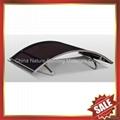 門廊鋁合金框架拱形PC耐力板遮雨陽篷棚篷 3