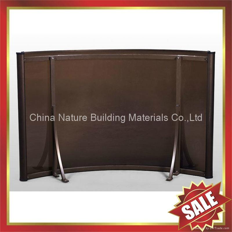 門廊鋁合金框架拱形PC耐力板遮雨陽篷棚篷 4