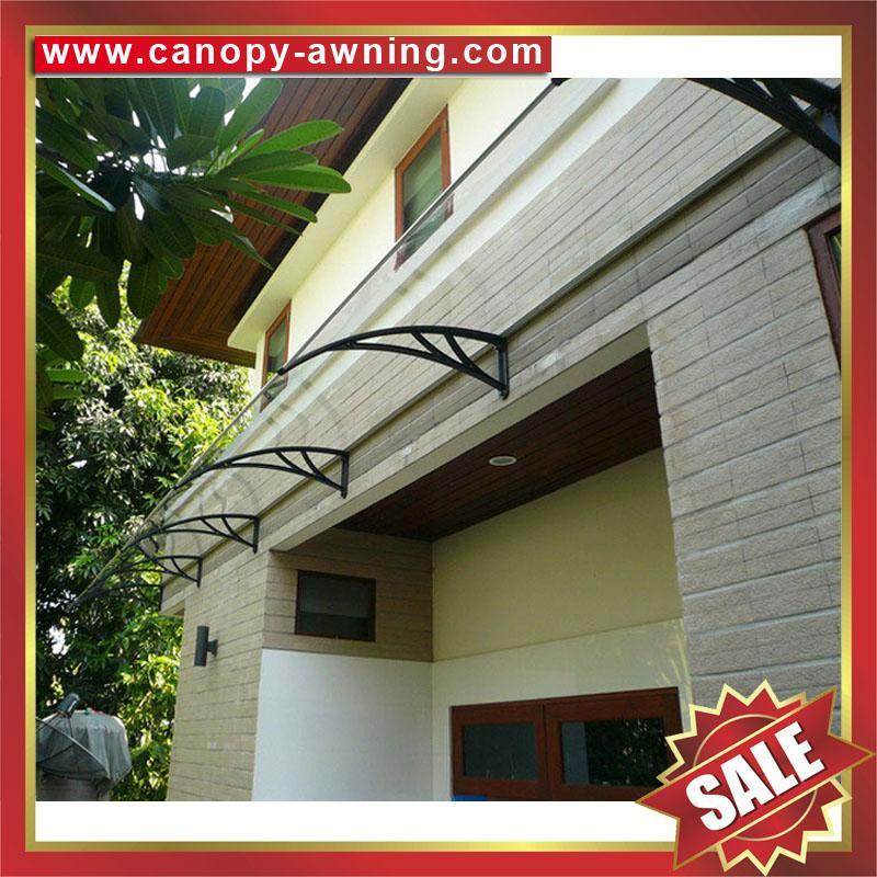outdoor window door diy pc polylcarbonate rain sunshade awning canopy shelter 2
