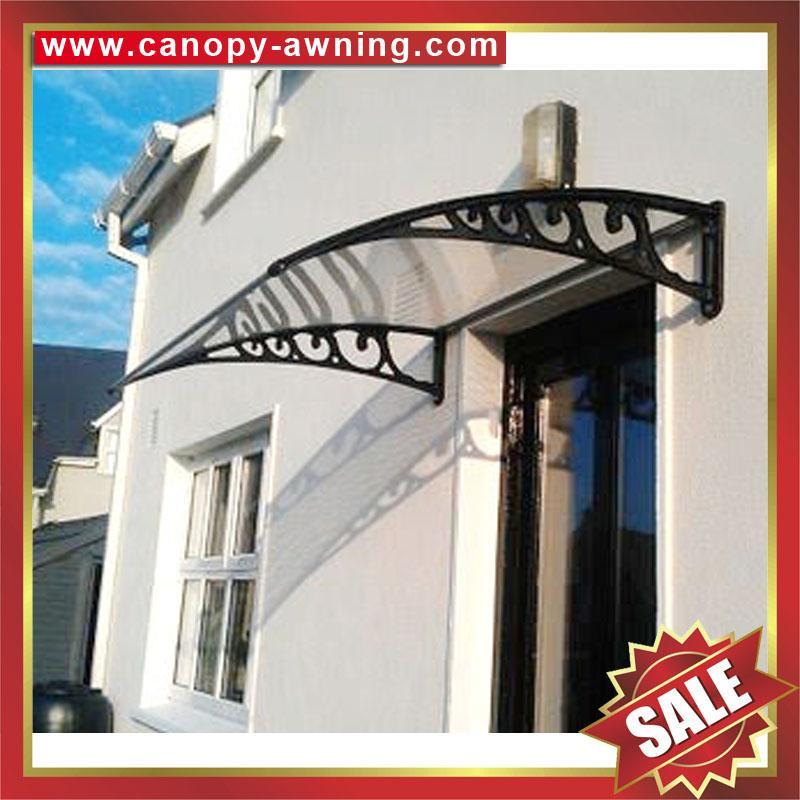 outdoor window door diy pc polylcarbonate rain sunshade awning canopy shelter 1