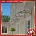 outdoor window door diy pc polylcarbonate rain sunshade awning canopy shelter 4